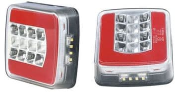 2 x GLO TRAC 'patented' LED 12v / 24v REAR TRAILER LIGHTS (TRS004) gow trac